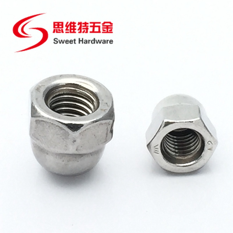 DIN1587 Stainless steel A2 A4 Connecting Hex Domed Cap Nuts M3-M20