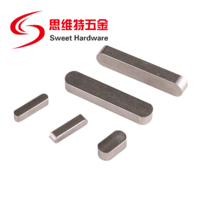 Hardware Fasteners Key Holder Stainless Steel Flat Key DIN6885 A Type round end Parallel Keys