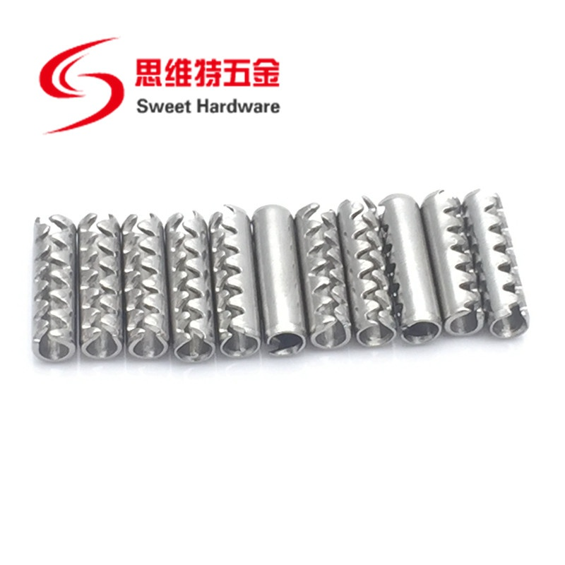304 Stainless Steel Toothed Split Spring Loaded Lock Pin