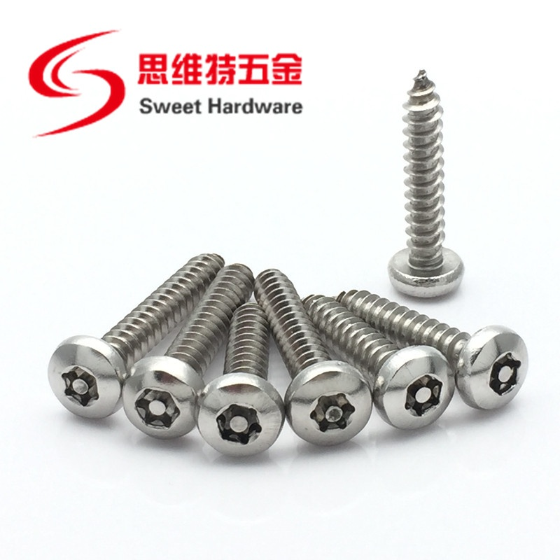 Stainless steel 304 Torx Pin-In pan head drive tapping screws