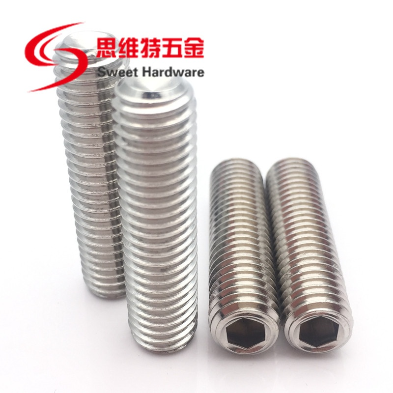 Customized 201 stainless steel 304 grub set screw OEM and ODM supported