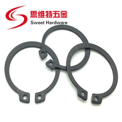 China manufacturer manganese black steel circlip retaining ring snap ring DIN471