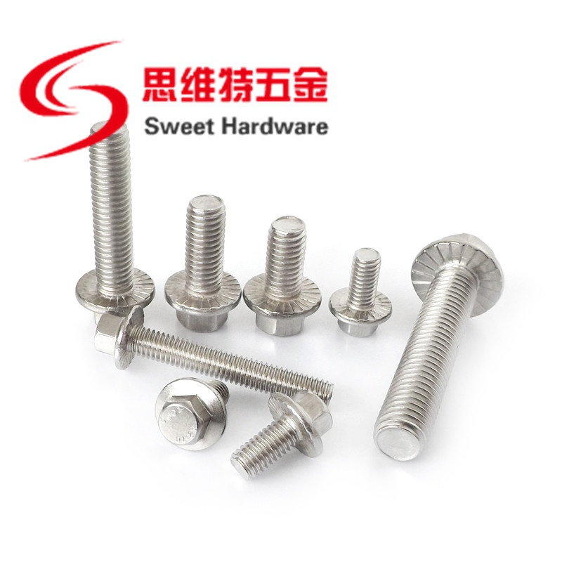 GB5789 flange bolt 304 stainless steel hex bolt with washer M4M5M6M8M10M12