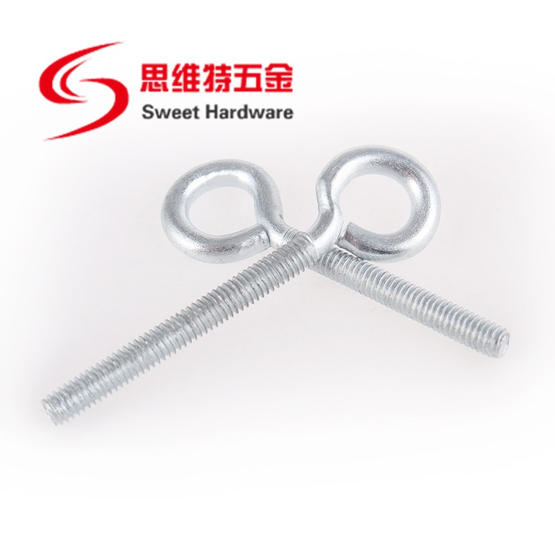 Manufacturer Zinc plated eye bolt with round circle OEM ODM support