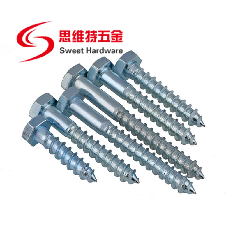 Hex head self tapping wood screw drywall zinc plated screw DIN571