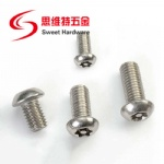 SS304 stainless steel pan head pin-in torx anti-theft machine screw