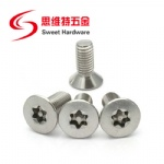 SS304 stainless steel flat head pin-in torx anti-theft machine screw