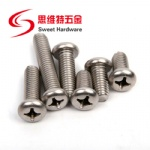 Stainless steel philips pan head screw GB818 screw SS304 316 OEM and ODM supported