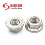 Professional Fastener SS304 SS316 Stainless Steel Hex Flange Nut DIN6923