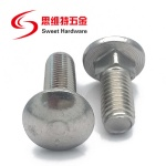 Half round head carriage bolt DIN603 GB12 stainless steel carbon steel zinc plated brass screw Grade 4.8 6.8 8.8 10.9 12.9