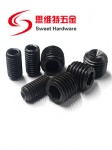 DIN916 carbon steel hex screw grub set bolts in black