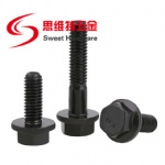 High tensive carbon steel gr10.9 black flange bolt GB5787 with customized