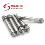 SS304 stainless steel anchor bolt with different size and type