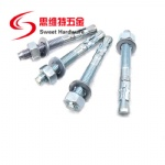 Expansion wedge anchor bolt sleeve bolt with cartbon steel zinc plated