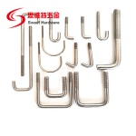 Stainless steel carbon steel U bolt J bolt with factory customized