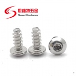 304 stainless steel button head socket tapping screw with blunt tip