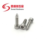 304 stainless steel hex socket head self tapping screw with factory price